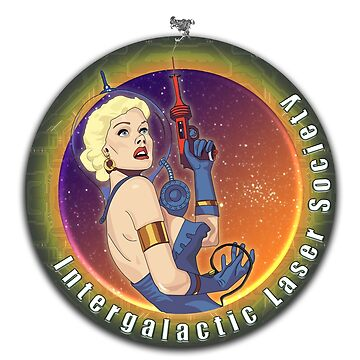 Intergalactic Laser Society - Laser Girl Patch by galacticrad