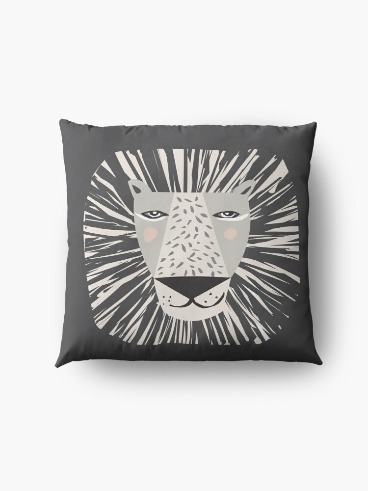Alternate view of Friendly Lion Floor Pillow