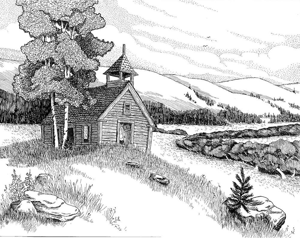 Montana Schoolhouse by BobHenry