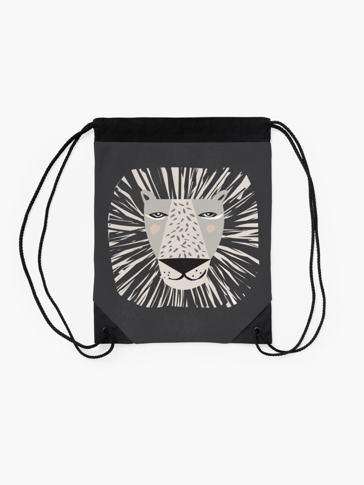 Alternate view of Friendly Lion Drawstring Bag