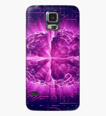 Purple Glowing Brain Wired On Neural Surface Or Electronic Conductors Case/Skin for Samsung Galaxy