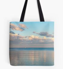 Glossy Rose Gold and Sapphire Blue - Waterside Relaxation Zone Tote Bag