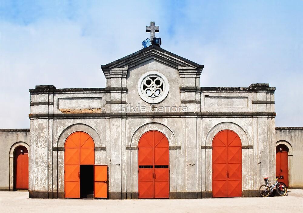 Church and bicycle by Silvia Ganora