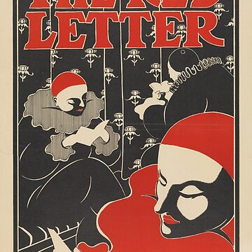 The Red Letter Vintage Poster Art Nouveau by thespottydogg