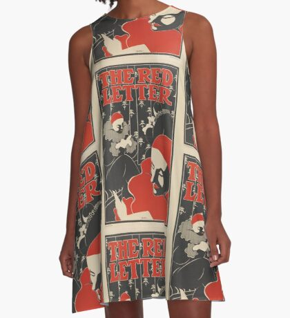 The Red Letter Vintage Poster Art Nouveau A-Line Dress