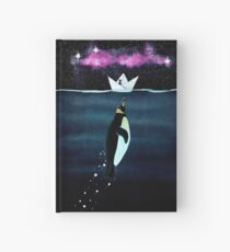 """""""Emperor Penguin"""" - from the heron of my paper boats Hardcover Journal"""