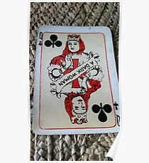 The Playing Cards - Queen of Clubs - A Dark Woman Poster