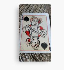 The Playing Cards - Queen of Spades - A Very Dark Woman Metal Print