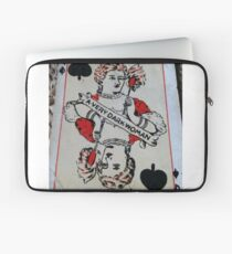 The Playing Cards - Queen of Spades - A Very Dark Woman Laptop Sleeve
