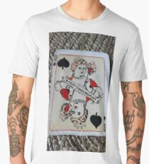The Playing Cards - Queen of Spades - A Very Dark Woman Men's Premium T-Shirt
