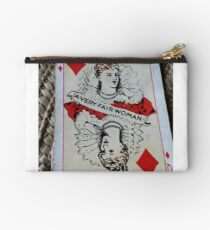 The Playing Cards - Queen of Diamonds - A Very fair Woman Studio Pouch