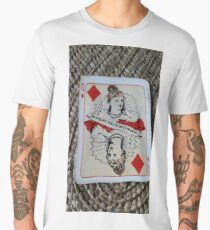 The Playing Cards - Queen of Diamonds - A Very fair Woman Men's Premium T-Shirt