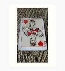The Playing Cards - Queen of Hearts - A Fair Woman Art Print