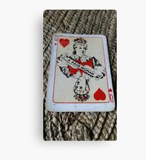 The Playing Cards - Queen of Hearts - A Fair Woman Canvas Print