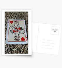 The Playing Cards - Queen of Hearts - A Fair Woman Postcards