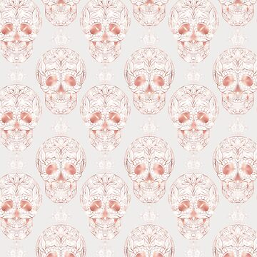 Blushing rose skulls by RoseAesthetic