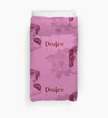 Woman yearning retro. gift Duvet Cover