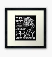 Rosary pray Framed Print