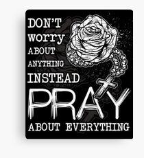 Rosary pray Canvas Print