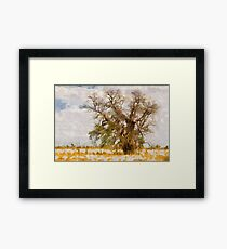 lonely bottle tree Framed Print