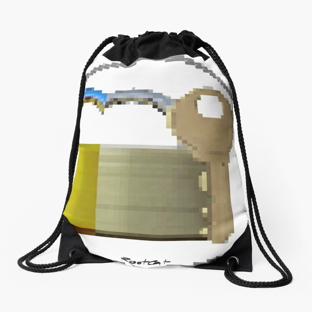 Pixiilated Key 999 by RootCat Drawstring Bag