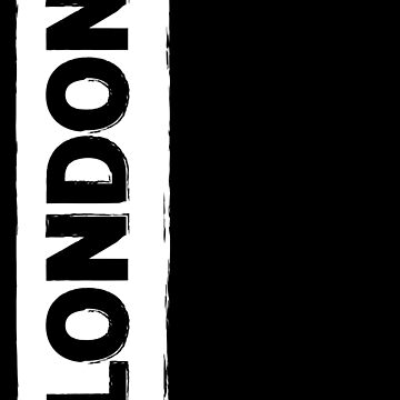 London-Black on White Graphic by broadmeadow