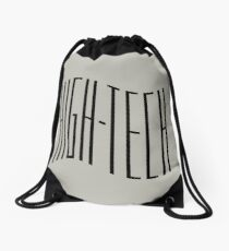 High - Tech Black Wave Drawstring Bag