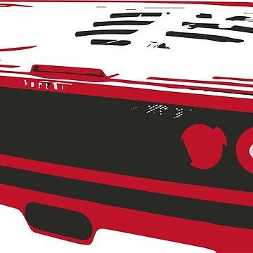 F40 sports car rear view by tfmotorworks