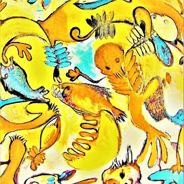 Sealife in yellow by UNWEARABLE