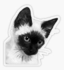 Siamese  Transparent Sticker