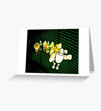 Strange conga Greeting Card