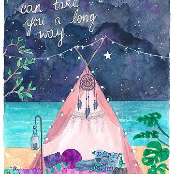 Oceanside Magical Tipi by MermaidsCoin