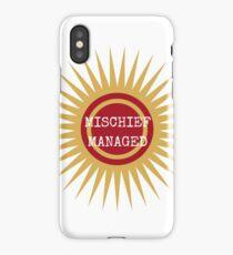 Mischief managed iPhone Case