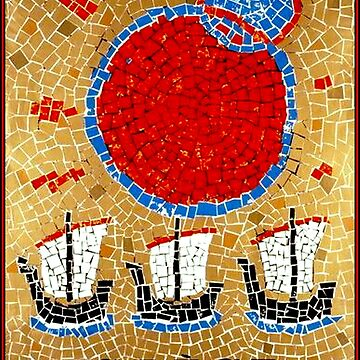 GREECE : Ancient Greek Mosaic GRECE Boat Print by posterbobs