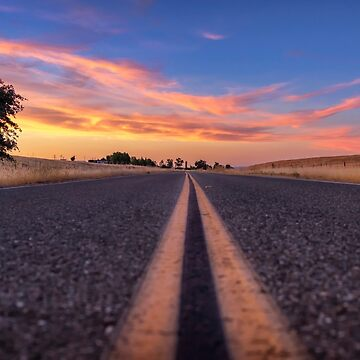 Follow the...... Millveille Plains Road in Northern California at Sunset by MarniePatchett