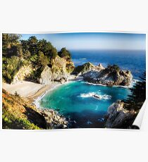 Magical Cove with a Waterfall Poster