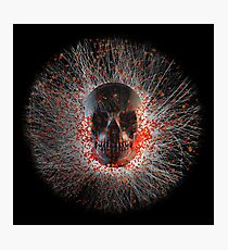 Skull Cinders Photographic Print