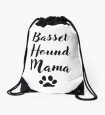 Basset Hound Mama Drawstring Bag