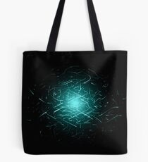 Glowing High Energy Particles Flowing Inside A Sphere Tote Bag
