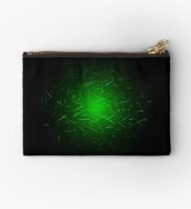 Glowing High Energy Particles Flowing Inside A Sphere Studio Pouch