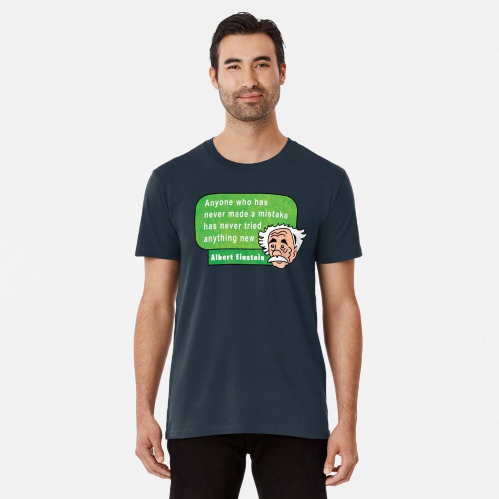 Einstein Motivation Inspiration Quote Camiseta premium