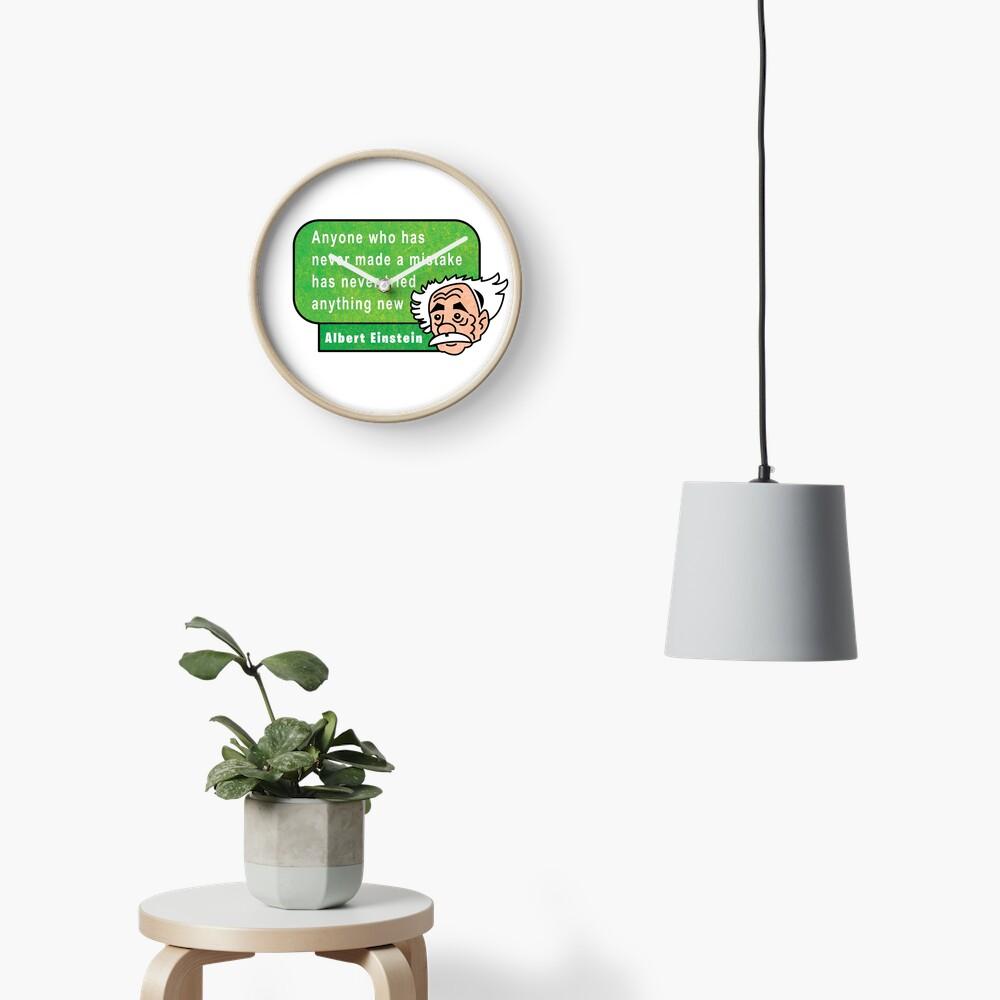 Einstein Motivation Inspiration Quote Reloj