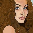 Girl With Curlzz by DarasDigitalArt