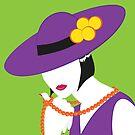 Madame - Violett und Grün von WACHtraum