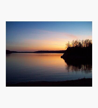 The Lake at Dusk Photographic Print