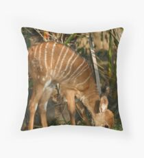 Sneak away from Mum! Throw Pillow