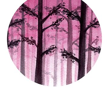 Miss The Forest For The Trees - Watercolour Painting by patti2905