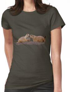 Prairie Dog Kiss Womens Fitted T-Shirt