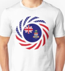 Caymanian American Multinational Patriot Flag Series Slim Fit T-Shirt