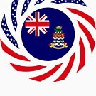 Caymanian American Multinational Patriot Flag Series by Carbon-Fibre Media